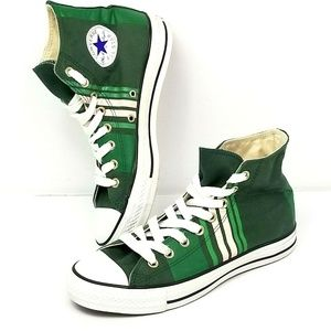 Converse All Star Chuck Taylor Shoes Green Striped